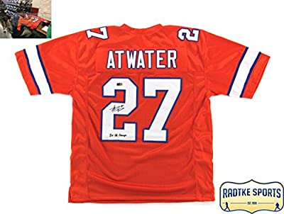 """Steve Atwater Autographed/Signed Denver Broncos Throwback Orange Custom Jersey With """"2x SB Champs"""" Inscription"""