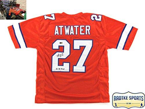 Steve Atwater Autographed/Signed Denver Broncos Throwback Orange Custom Jersey With