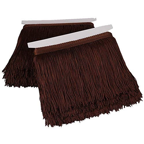 - Heartwish268 Fringe Trim Lace Polyerter Fibre Tassel 6inch Wide 10 Yards Long for Clothes Accessories Latin Wedding Dress DIY Lamp Shade Decoration Black White Red(Brown)