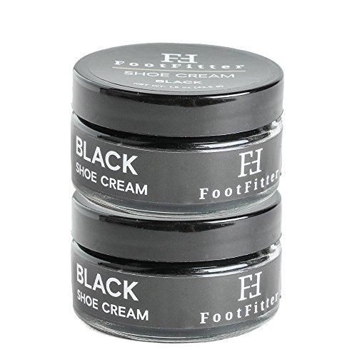 FootFitter Premium Shoe Cream Polish 2 Pack! Shoe and Boot Shine Cream! (Black)