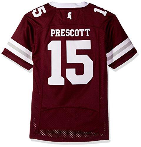 ppi State Bulldogs Dak Prescott Mens Premier Football Jerseypremier Football Jersey, Maroon, Large (Mississippi State Jersey Mesh)
