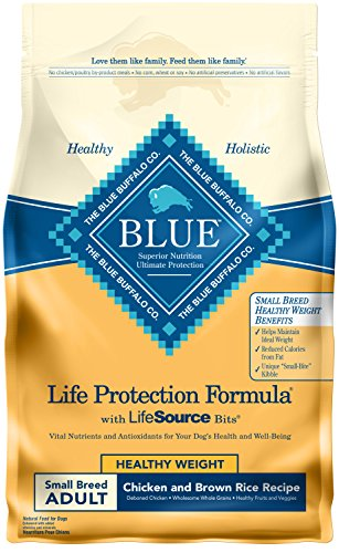 Blue Buffalo Life Protection Formula Healthy Weight Small Breed Dog Food - Natural Dry Dog Food for Adult Dogs - Chicken and Brown Rice - 6 lb. Bag