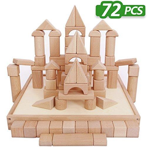 予約販売 Wooden Blocks - iPlay iLearn PCS wood Wooden block set Natural 72 Wooden Stacking Cubes Blocks 72 PCS [並行輸入品] B074V8XFGN, TRON:d2e0d399 --- a0267596.xsph.ru