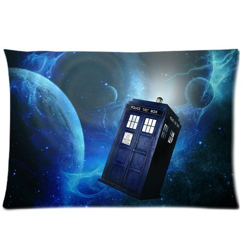 Doctor who bule Police Call Box pattern Fantasy universe background soft Custom Rectangle Pillow Cases 20x30 (one side) Amoior ntfdfh