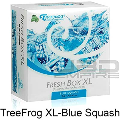 JBD Empire Treefrog Xtreme Fresh Box XL Air Freshener Scent Extra Large 400g - Black Squash/Blue Squash/Green Squash/White Peach/New Car (Blue Squash): Automotive