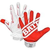 Battle Sports Hybrid Gloves - Red / White - Youth - XL