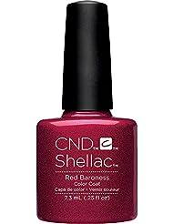 Creative Nail Design Shellac UV Color Coat Red Baroness