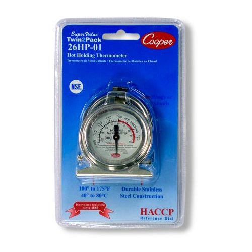 Cooper-Atkins 26HP-01C-2, Twin2Pack Holding Cabinet Thermometer (18 items per lot)