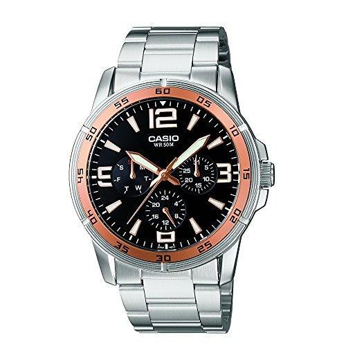 Casio Enticer Men Analog Black Dial Men #39;s Watch   MTP 1299D 1AVDF A479