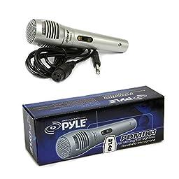 Pyle KTPMSA20HM Pair of 8\'\' Indoor / Outdoor 65 Watt PA Horn Speakers w/ 50 Watt Power Amplifier & Handheld Microphone