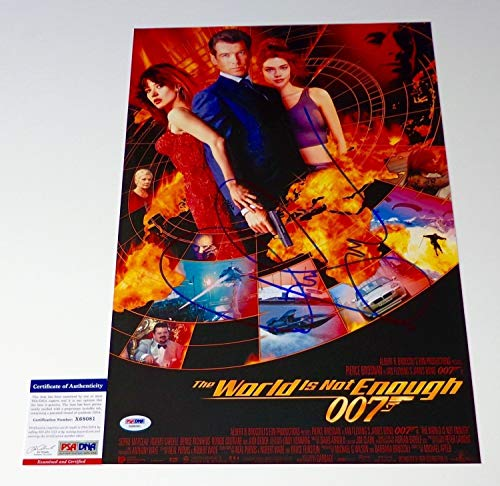 (Pierce Brosnan Autographed Signed The World Is Not Enough 12X18 Movie Poster Psa Coa X68081)