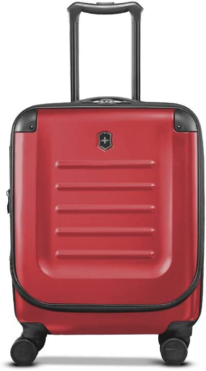 "Victorinox Spectra 2.0 Hardside Spinner Suitcase, Red, Expandable Carry-On, Global (21.7"")"