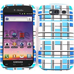 Unlimited Cellular Snap-On Case for Samsung Galaxy S Blaze 4G T769 (Blue/White Blocks)