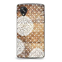 Case for Nexus 5, CasesByLorraine Wood Print Floral Pattern Polka Dots Case Plastic Hard Cover for LG Google Nexus 5 (G13)