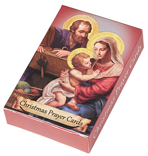 Service Prayer Card - Nativity Wallet Holy Cards with Assorted Christmas Prayers, Pack of 54