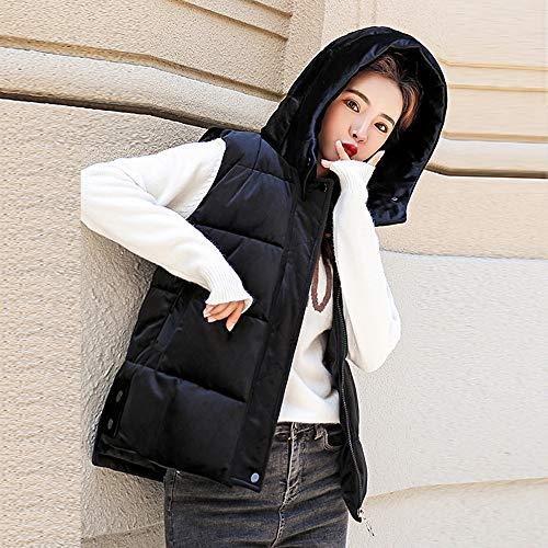 Giacca Spessa Jacket Black Slim Caldo Vento A Pelliccia Cappotto Inverno 2018 Gilet Giubbotti Cappuccio Faux Elegante Donna Morwind dwOFqTZd