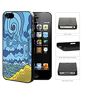 Psychedelic Aqua Seashore Lighthouse Hard Plastic Snap On Cell Phone Case Apple iPhone 4 4s
