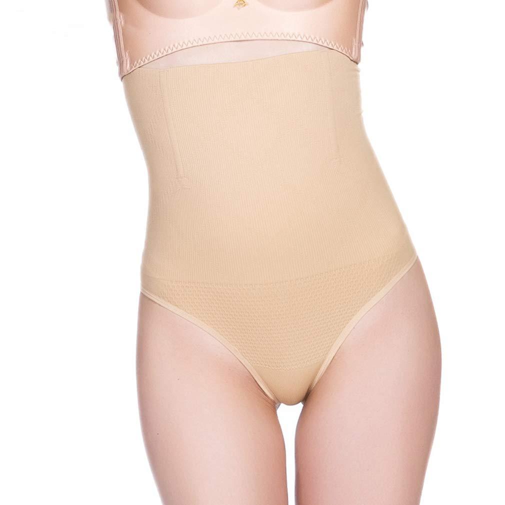 Beige RON BILLY Women Butt Lift Waist Cincher Thong Girdle Tummy Shapewear Control Shaper