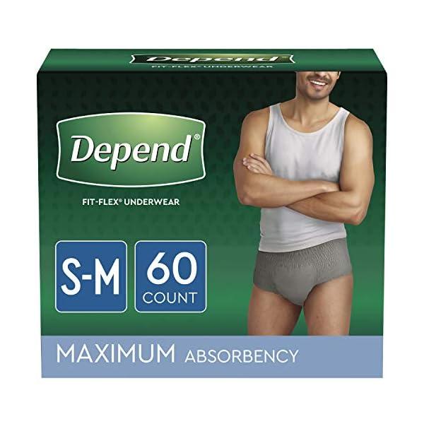 Depend FIT-FLEX Incontinence Underwear for Men, Maximum Absorbency, Disposable, Small/Medium,...