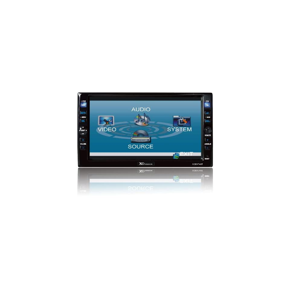 Touch Screen Double Din DVD Receiver (Black)