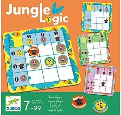 DJECO- Juegos de acción y reflejosJuegos educativosDJECOJuego Jungle Logic, Multicolor (15): Amazon.es: Juguetes y juegos