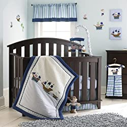 Laura Ashley Baby 4 Piece Crib Set Pirate Adventure