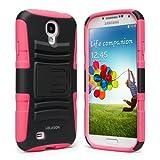 i blason samsung galaxy s4 mini - i-Blason Samsung Galaxy S4 Mini i9190 Prime Series Dual Layer Holster Case with Kickstand and Locking Belt Swivel Clip (Pink)