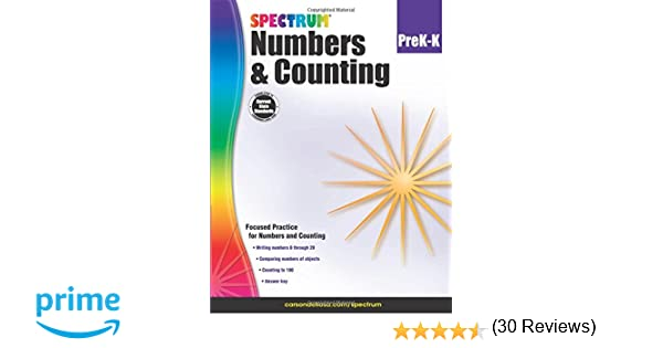 Amazon.com: Numbers & Counting, Grades PK - K (Spectrum ...