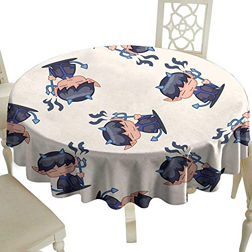 (WinfreyDecor Restaurant Tablecloth Halloween Party Costume Cartoon Seamless Pattern Background for Kitchen Dinning Tabletop Decoration)