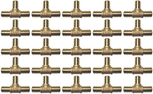 (pack of 25) 1/2'' Brass Pex Crimp Tees- Lead Free by Allen