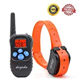 Training Dog Collar - Dogedu DU518DR1 Rechargeable Rainproof 350 Yard Remote Dog Training E-Collar with Vibration shock flashlight Safebeep