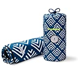 Picnic & Outdoor Blanket | Plush and Water-Resistant Outdoor Mat | Perfect for Camping, Beach, Park and Picnics | Newport Blue Arrow