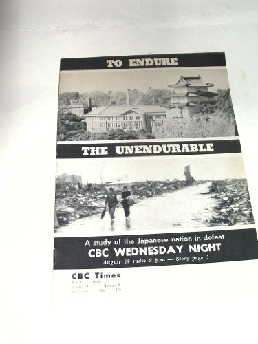 CBC TIMES August 24-30 1963 Volume 14 No 8 Pacific Region Schedule