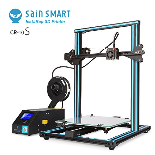 SainSmart x Creality CR-10S Semi-Assembled 3D Printer, Upgraded Dual Z Axis T Screw Rods, Filament Monitor, Resume Printing, Large Build Volume 300x300x400mm ()