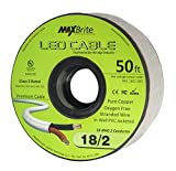 18AWG Low Voltage LED Cable 2 Conductor Jacketed In-Wall Speaker Wire UL/cUL Class 2 (50 ft reel)