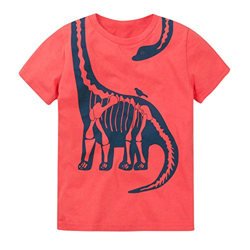 Dinosaur Shirt t for Little Boys Girls Franterd Summer Animal Tops T-Shirt Clothes Kids Size 18M 2 3 4 5T (5T, Watermelon)