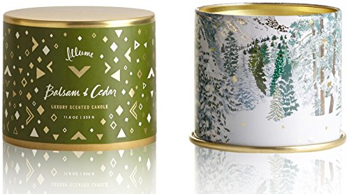 Illume Vanity Tin Candle - Balsam & Cedar - 11.8 oz