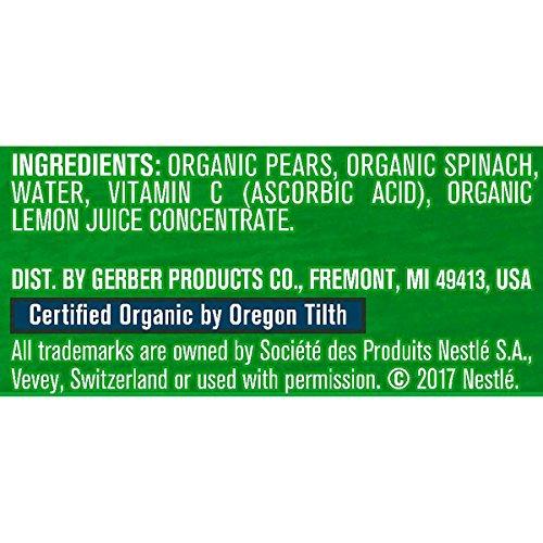 51XrRmjKR4L - Gerber Purees Organic 2nd Foods Baby Food Fruit & Veggie Variety Pack, 3.5 Ounces Each, 18 Count