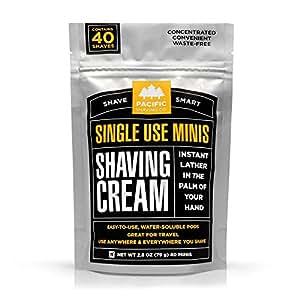Pacific Shaving Company Shaving Cream Mini's 40 Pods, 1 Pack
