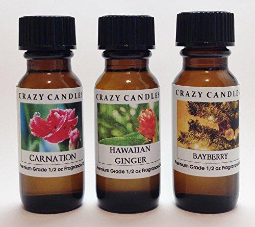 3 Bottles Set, 1 Carnation, 1 Hawaiian Ginger, 1 Bayberry...