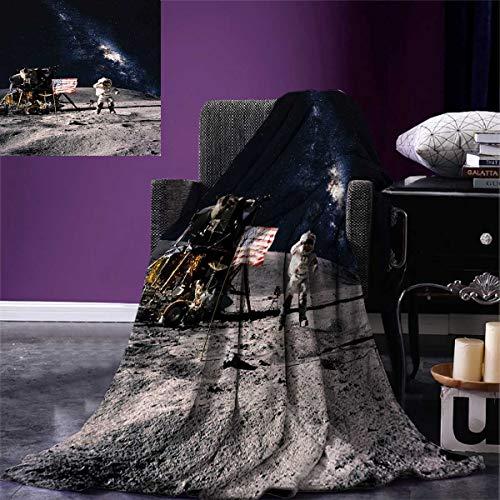 galaxy printing blanket astronaut rocky
