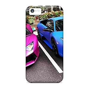 Series Skin Cases Covers For Iphone 5c(pink Blue Lamborghinis)