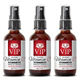 Serum with hyaluronic - VITAMIN C SERUM PREMIUM COMPLEX With Hyaluronic Acid (20% Potency) - Wrinkle vitamin - 3 Bottles