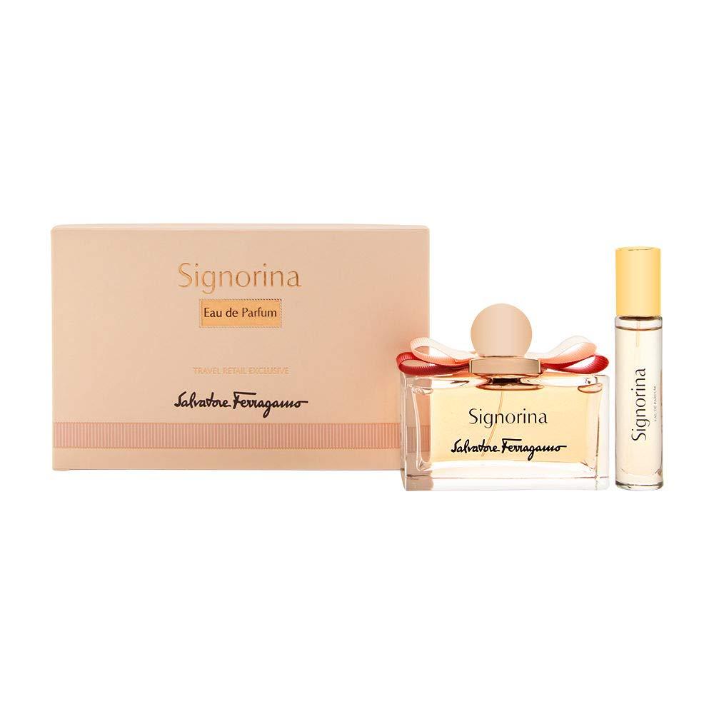 Salvatore Ferragamo Signorina 2 Pcs Set for Women, Eau de Parfum Spray 3.4 Oz & Eau de Parfum Spray 0.34 Oz