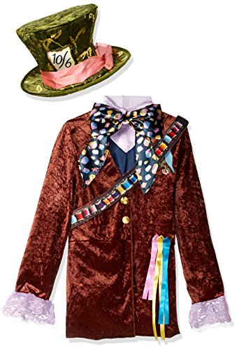 Disguise Mad Hatter Classic Alice Through The Looking Glass Movie Disney Costume, Large/10-12 (Online Costume Stores)