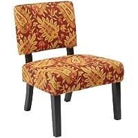 Ave Six Jasmine Accent Chair, Floral Cinnabar
