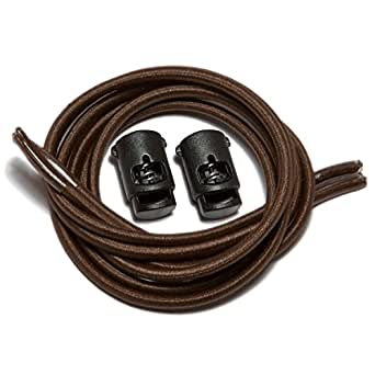 "Speedlaces iBungee Stretch Laces with Race Locks - 22"" - Brown"