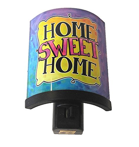 Spoontiques Home Sweet Home Glass Shielded Night Light with Swivel Feature and Light Bulb Included