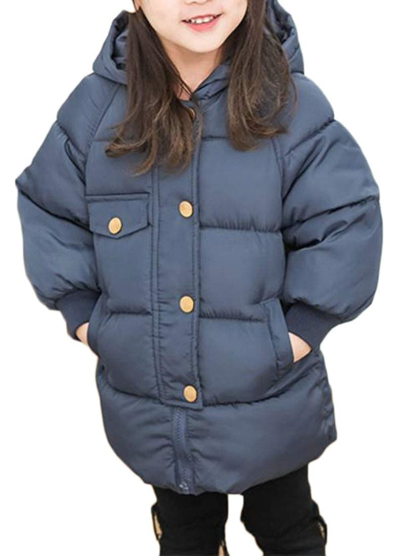 Conffetti Boys and Girls Quilted Thick Hooded Winter Puffer Parka Coat Jacket