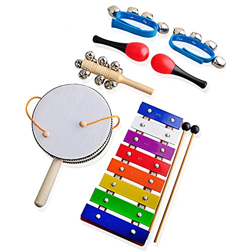 childrens-musical-instruments-for-kidsgimilife-xylophonerattlemaracassleigh-bellwrist-bells-percussi